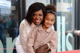 Viola Davis and her daughter, Genesis at her Hollywood Walk of Fame ceremony