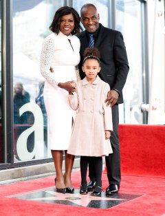 Viola Davis and family at her her Hollywood Walk of Fame ceremony